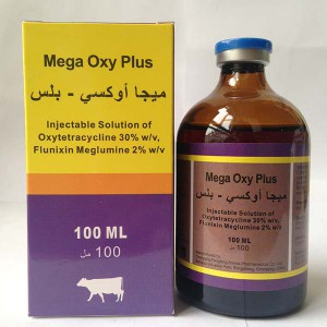 Oxytetracycline 30% + Flunixin Meglumine ฉีด 2%