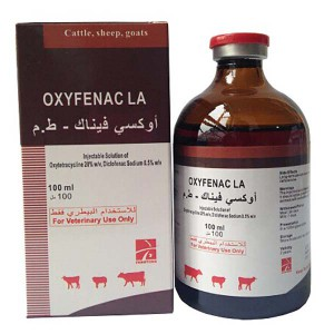 Oxytetracycline 20% + Diclofenac โซเดียม 0.5% ฉีด (OXYFENAC LA)