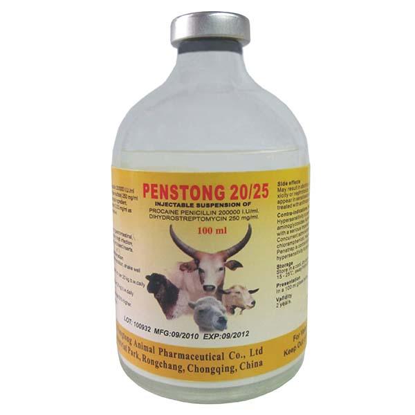 Competitive Price for China Veterinary Medicines - Penstrep (Procaine Penicillin + Dihydrostreptomycin Suspention)  20 25 – Fangtong