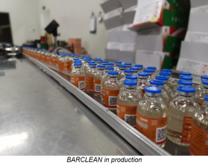 BARCLEAN in production
