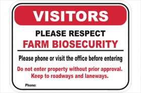 Creating a biosecurity plan for my dairy farm