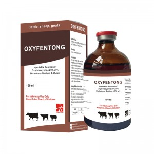 Oxytetracycline 20% + Diclofenac նատրիումի 0.5% ներարկման (OXYFENAC LA)