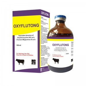 Oxytetracycline 30% + Flunixin Meglumine 2% iniksyon